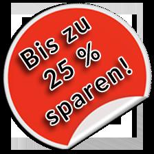 Bis zu 25 % sparen!